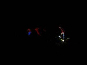 Around a campfire