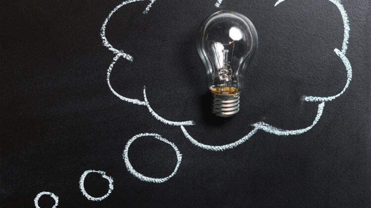 A light bulb showing a new thought
