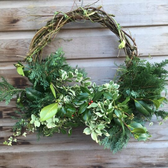 Christmas Wreath (Half wreath)