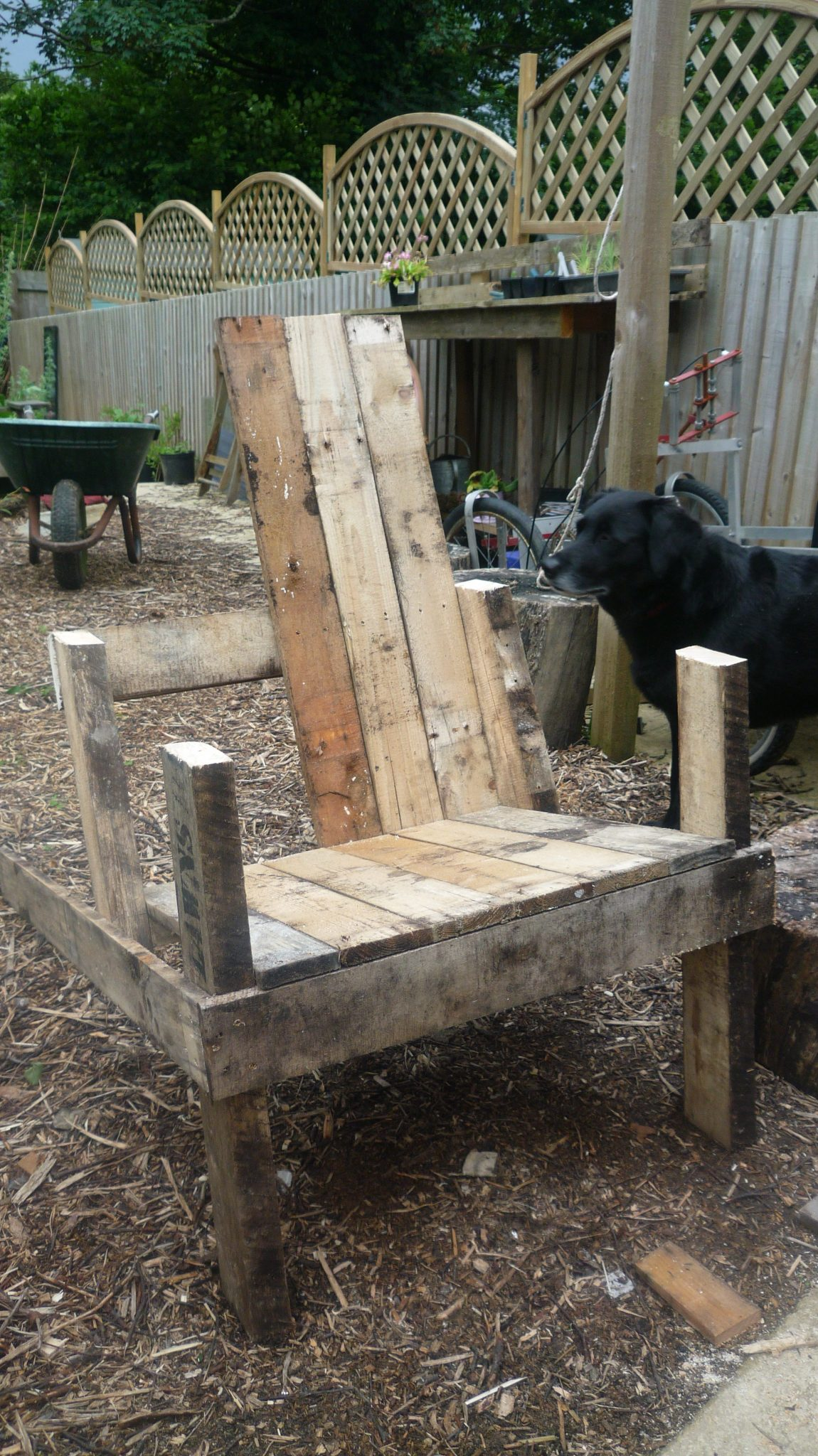 A chair in the making